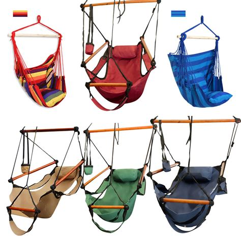 Hammock Seat by Outdoor Cotton Striped Hanging Hammock Rope Chair Porch