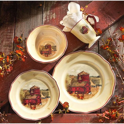 dinnerware sets country dish pride pc dishes dinner flatware kitchen ware french guide sportsmansguide china plates collection yellow plate kitchens