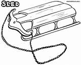 Sled Coloring Pages Drawing Clipart Colouring Clipartbest Colorings Getdrawings sketch template
