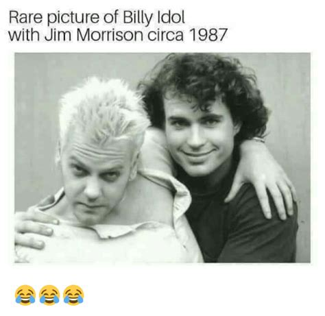 Rare Picture of Billy Idol With Jim Morrison Circa 1987
