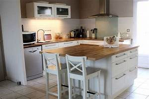 Ilot central cuisine ikea idee cuisine pinterest for Idee deco cuisine avec construire sa cuisine