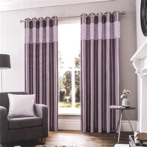 Glamour Plum Ready Made Eyelet Curtain  Harry Corry Limited