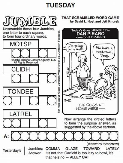 Jumble Puzzles Word Daily Printable Words Puzzle