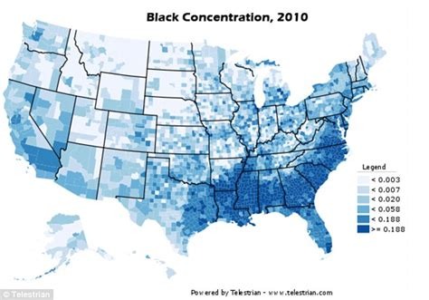 census maps show black  hispanic population centred