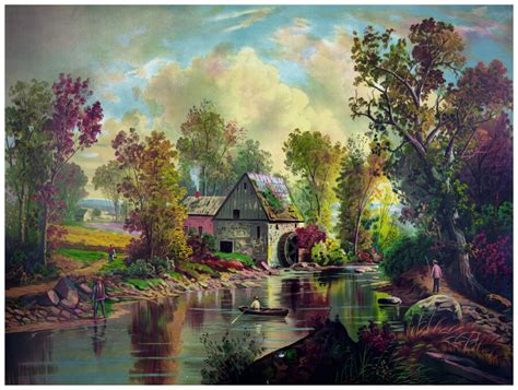 Decor Nature Poster Graphic Art Country House Painting