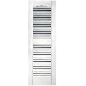 builders edge 12 in x 36 in louvered vinyl exterior