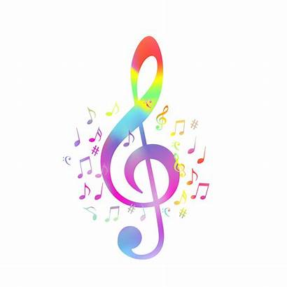 Notes Clef Colorful Illustration Vector Background Musiques
