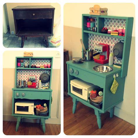 cuisine pour enfant diy cuisine enfants vintage un vieux meuble r 233 cup 233 r 233 et