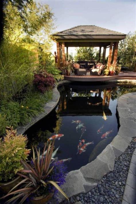 etang de jardin moderne pour heberger les poissons