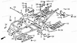 Honda Atv 1984 Oem Parts Diagram For Frame
