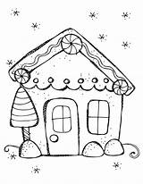 Coloring Pages Gingerbread Simple Prairie Printable Houses Christmas Colouring Boy Whoville Template Sheets Getcolorings Candy Among Snowflake Sketch Google Popular sketch template