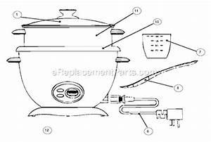 Oster 4731 Parts List And Diagram   Ereplacementparts Com