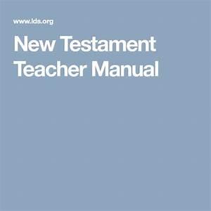 New Testament Teacher Manual
