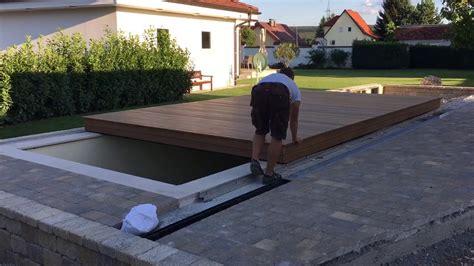 Poolabdeckung Aus Holz Selber Bauen Wohndesign