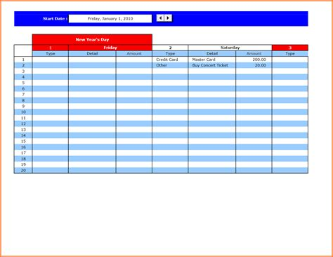 bill payment spreadsheet excel templates excel