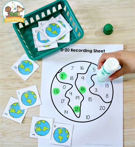 earth day math activities for preschool pre k pages 337 | Earth Day Number Game
