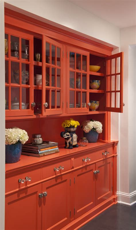 bright buffet hutch  dining room eclectic  wall