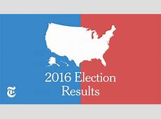Presidential Election Results Donald J Trump Wins