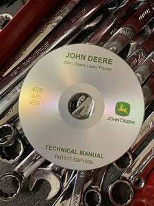 John Deere 425 445 455 Lawn Tractor Service Repair Manual