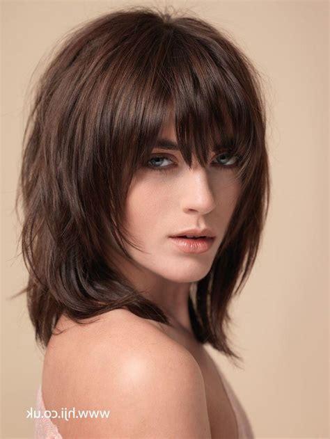 short medium shaggy hairstyles