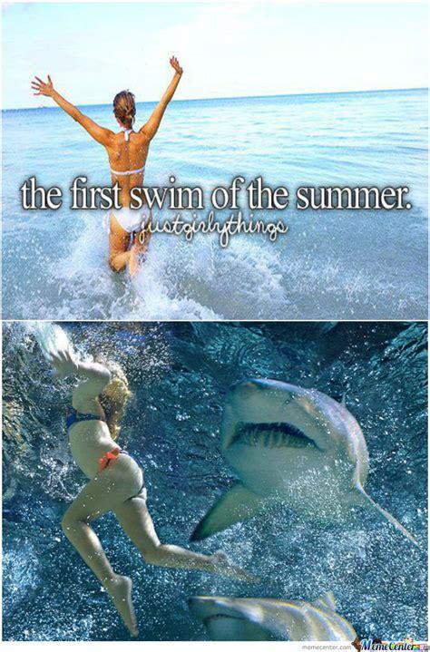 Swim Memes - first swim by jimkneeswagereatsfries meme center