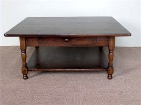 rustic coffee table with slatted shelf design