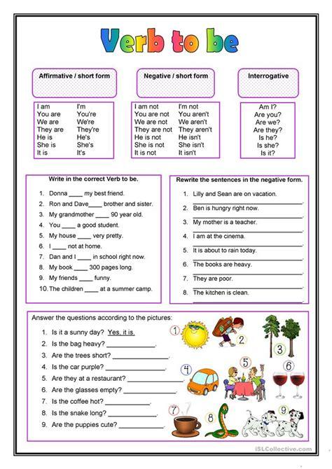 the verb to be worksheet free esl printable worksheets