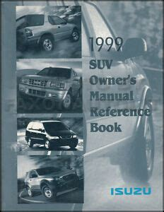 best car repair manuals 1999 isuzu oasis interior lighting 1999 isuzu owners manual vehicross oasis hombre rodeo owner reference guide book ebay