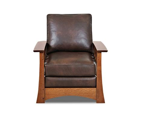 mission leather chair mission style leather chair made highlands cl7016c