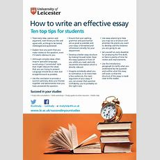 How To Write An Effective Essay  Ten Top Tips For Students