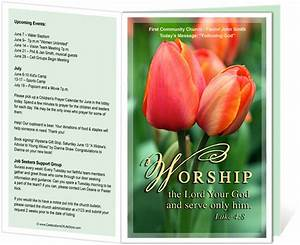 14 best printable church bulletins images on pinterest With worship bulletin template