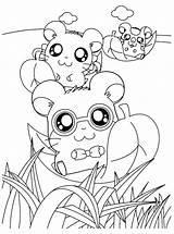 Coloring Hamtaro Hamster Anime Printable Colorare Ausmalbilder Criceti Fiume Sheets Colouring Malvorlagen Tunnel Disegni Kawaii Mewarnai Colorear Hamsters Cartoon Gambar sketch template