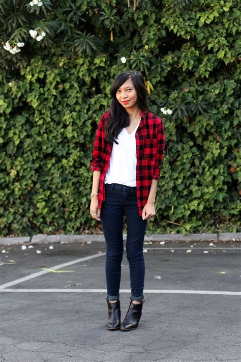 8 best black and red flannel images on Pinterest | Red flannel Checked shirts and Fall winter ...
