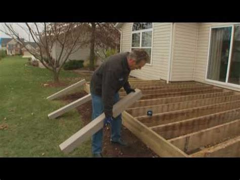 how to install composite decking part 1 installing deck