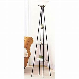 Mainstays 69quot etagere floor lamp charcoal finish for Mainstays floor lamp with reading light instructions