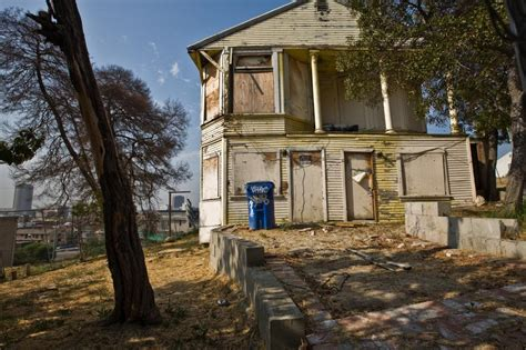Condemned House by Democratic Mayoral Candidates Gather At Rev Al Sharpton S