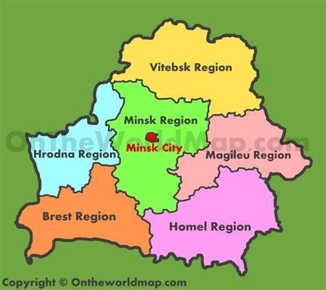 administrative map  belarus