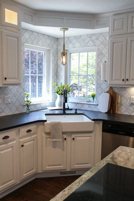 space saving corner sink ideas   ideal  small kitchens