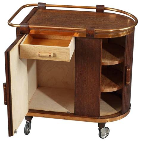 bar cart with doors mid century oak bar cart with sliding doors for at 573