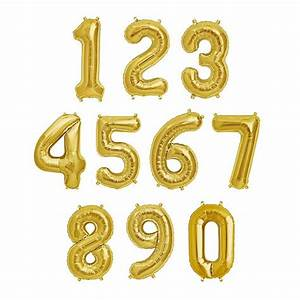 40 inch gold giant number foil balloons 0 9 from With letter and number balloons