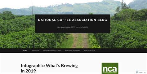 The national coffee association (nca) or (national coffee association of u.s.a., inc.), is the main market research, consumer information, and lobbying 2 association for the coffee industry in the. 33 Of The Best Restaurant Blogs to Read For Anyone in F&B   CandyBar.co Blog