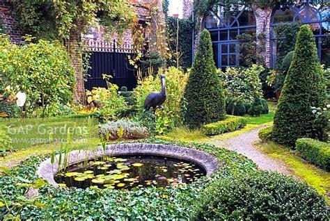 Gap Gardens  A Small Formal Garden With A Circular Pond