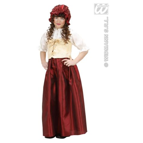 pretty peasant girl fancy dress costume sanc