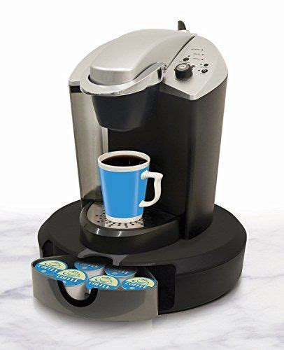 Pod machines use vacuum sealed pods filled with delicious fresh coffee, with one pod making one cup. Coffee Carousel SingleServe Pods Kitchen Counter Storage Organizer -- This is an Amazon Associat ...