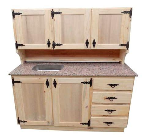 mueble de cocina de madera de pino  herrajes  en mercado libre