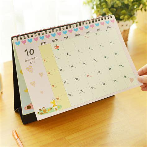 free standing desk calendar 2016 calendar cute cartoon totoro minion desktop animal