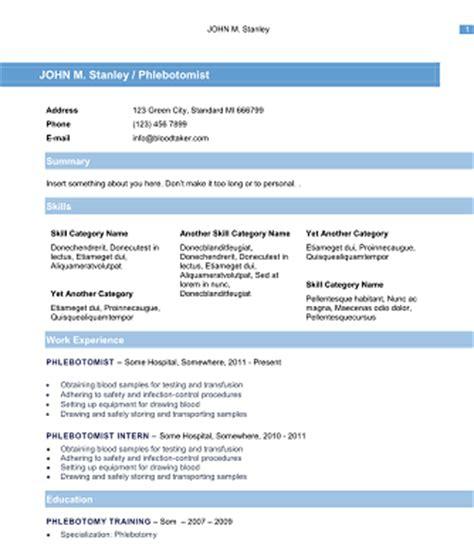Phlebotomist Resume Skills by Resume Exle 2016 Phlebotomy Resume Exles Phlebotomy Resume Cover Letter Phlebotomy