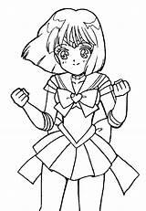 Saturn Sailor Coloring Deviantart sketch template