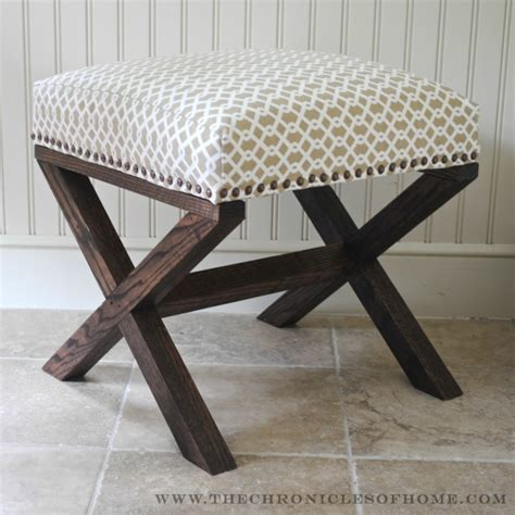 diy upholstered bench   craft