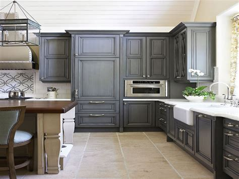 Gray Painted Kitchen Cabinets, Charcoal Grey Kitchen